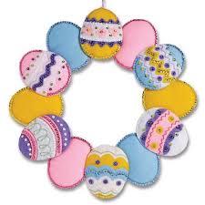 bucilla kits bucilla easter egg wreath felt sequin