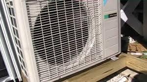 hvac install daikin heat pump mini split youtube