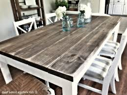Rustic Wood Dining Table Ideas Modern Kitchen - Distressed white kitchen table