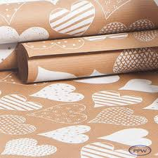 wholesale wrapping paper rolls luxury fancy kraft coffee heart wrapping paper roll wholesale