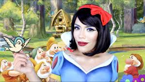 halloween body paint disney princess snow white inspired makeup tutorial with
