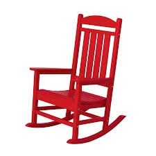 Plastic Patio Chairs Shop Polywood Presidential Sunset Red Plastic Patio Rocking Chair
