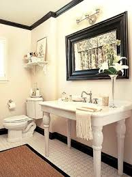 Bathroom Molding Ideas Colors Black And White Bathroom With Crown Molding Benjamin Moore