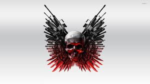 the expendables 2 skull and guns wallpaper wallpapers 53468