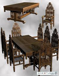 History Of Gothic Design Gothic Gothic Interior And Victorian - Gothic dining room table