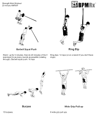 20 minute amrap workout bpm rx