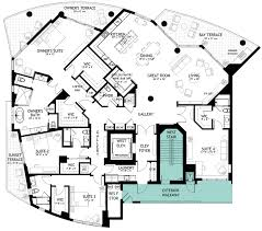 Centralized Floor Plan by Luxury Penthouses For Sale In Tampa Bay Florida At The Virage