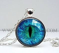 blue eye necklace images Yuejin 1 x cat eye necklace pendant charms art jpg