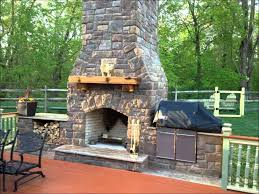 image of prefabricated concrete outdoor fireplace