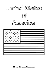 us flag coloring page free flags coloring pages thelittleladybird com