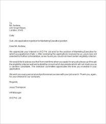 Decline Letter To Bid 9 Rejection Letter Sles Sle Letters Word