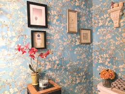 Wallpaper For Walls Teal And Pink You Will Love This Gorgeous Bathroom Wallpaper Transformation