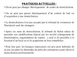 domiciliation si e social la domiciliation projet de loi n complétant la loi n 15 95 formant