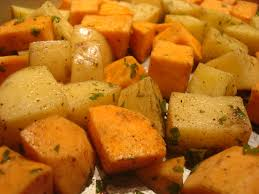thanksgiving potluck roasted potatoes yams