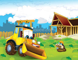 cartoon digger wallpaper wall mural wallsauce cartoon digger wall mural photo wallpaper