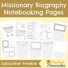 missionary biography books u0026 resources free notebooking pages
