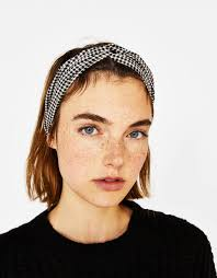 hair accessories malaysia checked turban style headband hair accessories bershka malaysia