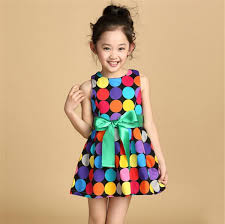 colorful dress new design 2016 girl dot dresses fashion casual summer cool