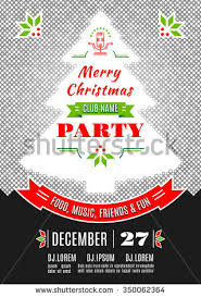 merry christmas party invitationdesign templateflyerticket