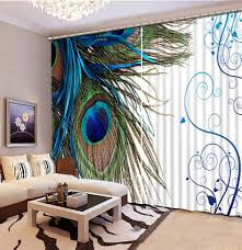 Turquoise Living Room Curtains Popular Peacock Living Room Curtains Buy Cheap Peacock Living Room