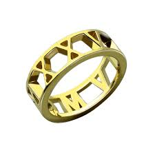 day rings personalized aliexpress buy gold color numerals ring personalized