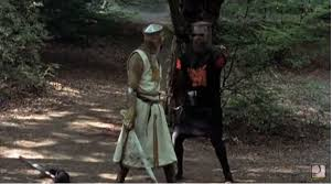 hardball u0027 trump is black knight in monty python with supporter as