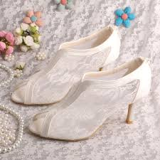 wedding shoes size 9 wedopus open toe dress lace wedding shoes 8cm heel size