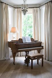 How To Put Curtains On Bay Windows 4 Ways To Create A Royal Home Pleated Curtains Piano And Header