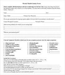intake form template 10 free pdf documents download free