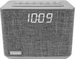Bathroom Radio Clock Ihome Fm Dual Alarm Clock Radio Gray Ibt232g Best Buy