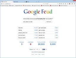 playing google feud when rebrn com
