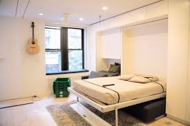 Small Rooms Big Bed Bedroom Effective Retractable Bed In Wall For Small Apartment