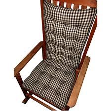 amazon com rocking chair cushions checkers black u0026 white 1 4