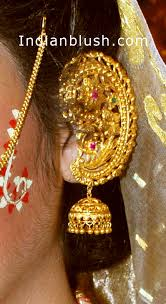 kaan earrings indian blush traditional bengali gold wedding jewellery part ii