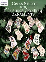 cross stitch mini christmas stocking ornaments christmas