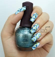 aztec print nail art stamp paint method lucy u0027s stash