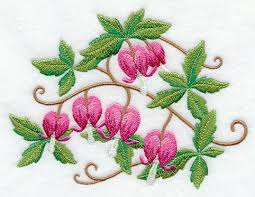 Bleeding Hearts Flowers Machine Embroidery Designs At Embroidery Library Embroidery Library