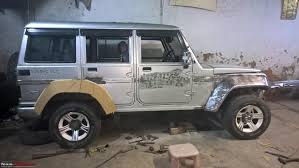 modified white jeep wrangler pic a neatly modified mahindra armada page 4 team bhp