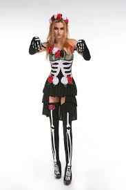 Halloween Costumes Skeleton Woman Aliexpress Com Buy Skeleton Day Of The Dead Costume