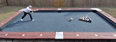 what is a billiard table big break giant pool table is 30 feet long and uses 6lb bowling