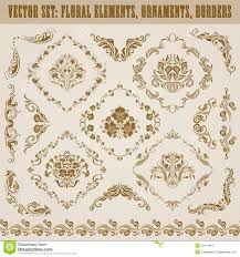 set of vector damask ornaments stock images image 30414964