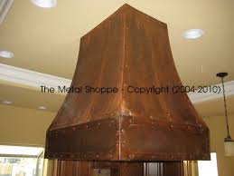 Rustic Kitchen Hoods - custom copper metal kitchen hoods custom copper metal