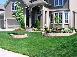 ideas small landscaping ideas for front of house with green grass