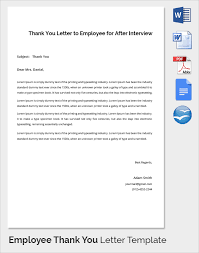 sample thank you letter to employer 18 download free documents