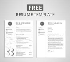 beautiful modern and unique professional resume cv template for
