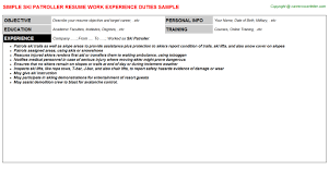Examples Of Resume Title by Ski Patroller Resume Sample