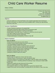 Sample Resume Objectives Psychology by Childcare Resume Templates Resume For Your Job Application