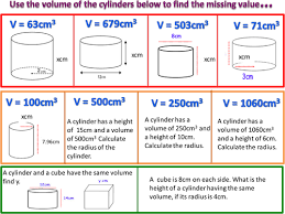 reverse problems volume of a cylinder by onitmaths teaching