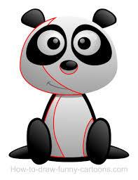 drawing a panda cartoon