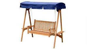 swing bench with canopy outdoor garden teak furniture